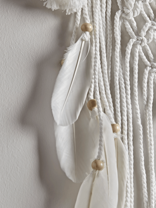 Large Macrame Dream Catcher Wall Hanging With Feathers
