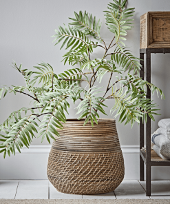 Round Rattan Basket For House Plant